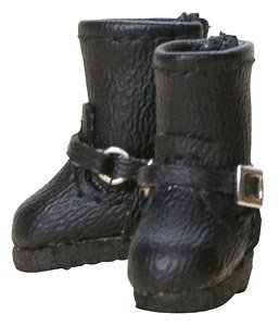 Double Buckle Boots (Black) (Fashion Doll)