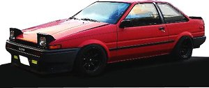 Toyota Sprinter Trueno (AE86) 2Door GTV Red (ミニカー)