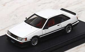 Toyota Corolla Levin (AE86) 2Door GT Apex White/Black (ミニカー)