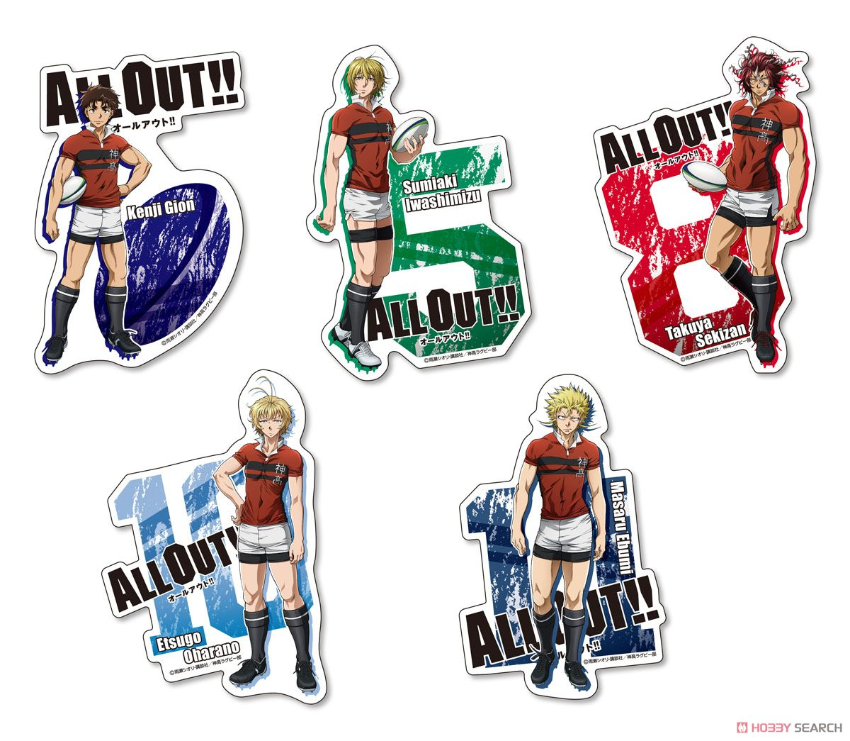 ALL OUT!! ダイカットポストカード 全5種類 (キャラクターグッズ)