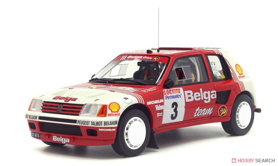 プジョー 205 T16 グループB Belga Rallye Ypres 1985 (レッド/ホワイト) (ミニカー)