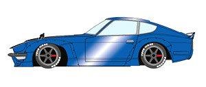 PANDEM 240Z メタリックブルー (カーボンボンネット) / 6スポーク ホイール (ブラック) (ミニカー)