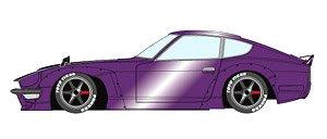 PANDEM 240Z メタリックパープル / 6スポーク ホイール (ブラック) (ミニカー)