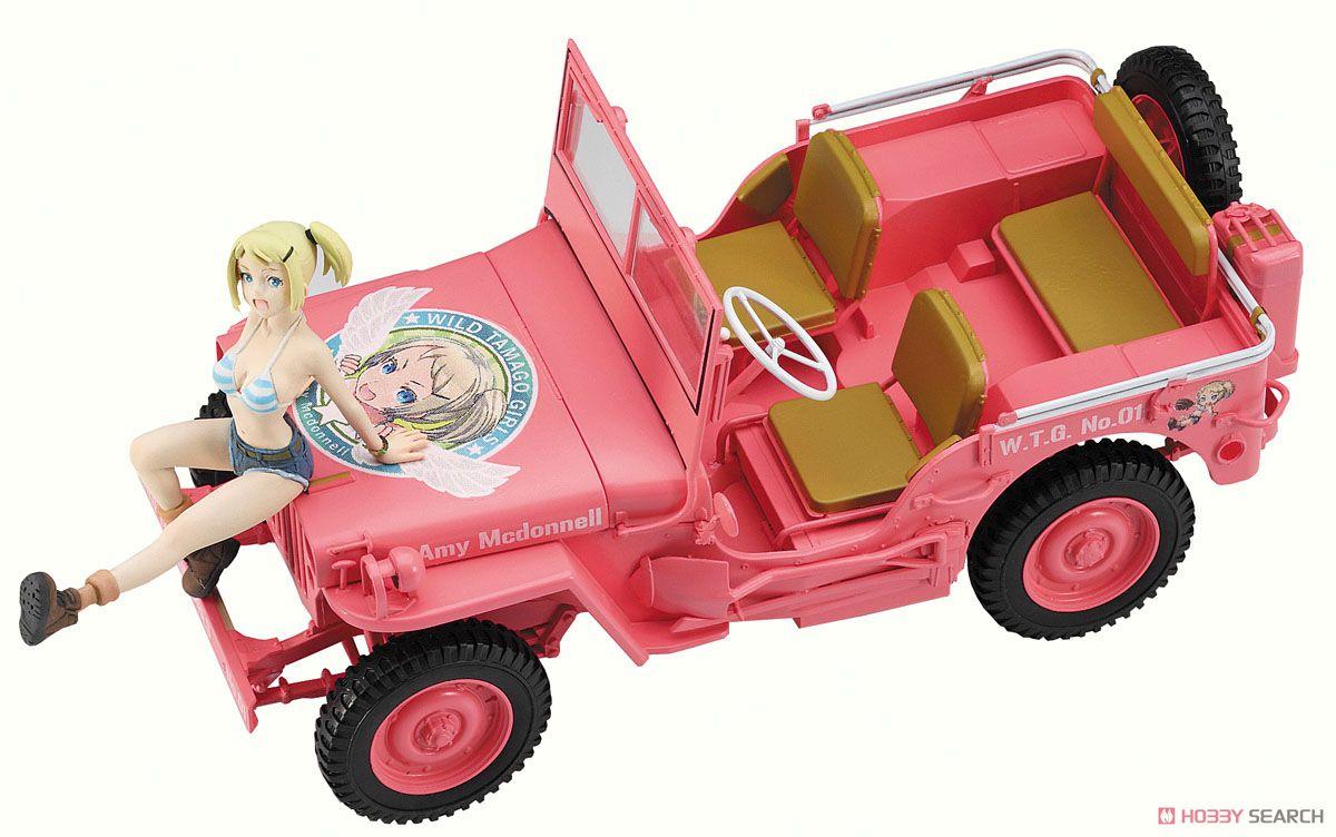 ワイルドたまごガールズ No.01 1/4トン 4×4トラック `エイミー・マクドネル` w/フィギュア (プラモデル)