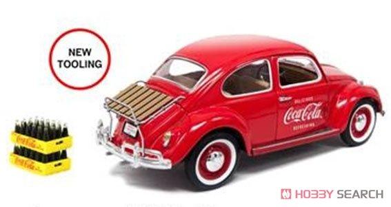 VW ビートル レッド 1996 後部荷物ラック、ボトルケース2個付 (ミニカー)