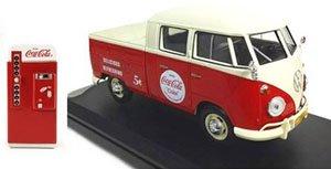 VW タイプ2(T1) ピックアップ レッド&ベージュ 1963 自販機アクセサリー付 (ミニカー)