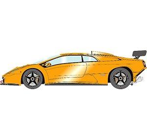 Lamborghini Diablo GTR 1999 パールオレンジ (ミニカー)
