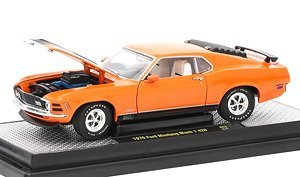 1970 Ford Mustang Mach 1 428 - Grabber Orange w/Semi-Gloss Black Stripes (ミニカー)