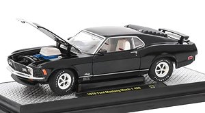 1970 Ford Mustang Mach 1 428 - Gloss Black w/Semi-Gloss White Stripes (ミニカー)