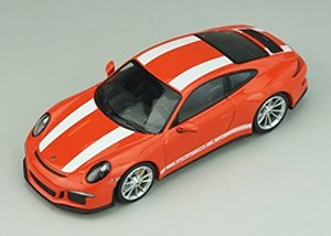 Porsche 911R 2016 Lava Orange White Side Decal (ミニカー)