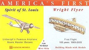 アメリカ航空史セット スピリット・オブ・セントルイス&ライト・フライヤー (プラモデル)