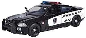 2011 Dodge Charger Pursuit black/white (ミニカー)