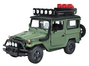 Toyota FJ40 off road green (ミニカー)