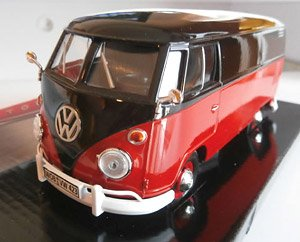 Volkswagen Type2 (T1) Delivery (Black/Ruby Red) (ミニカー)