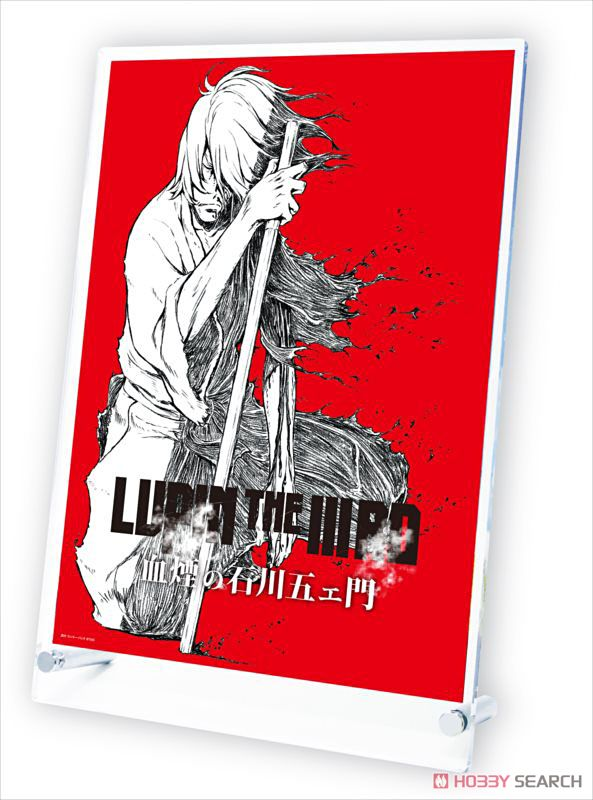 Lupin the IIIrd: Chikemuri no Ishikawa Goemon Stand Poster Red (Anime Toy) Item picture1