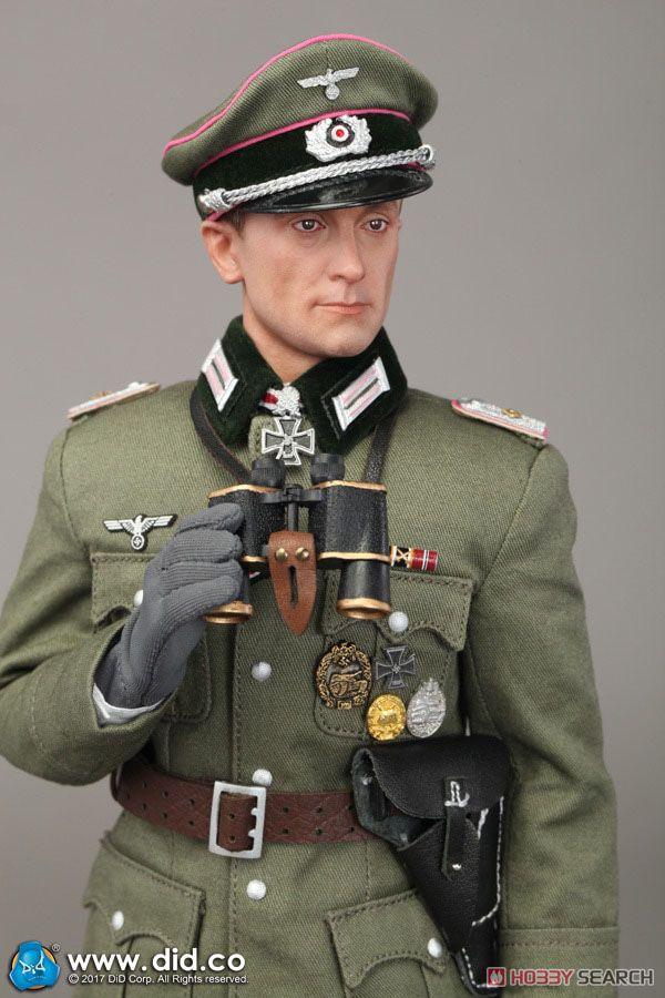 WW2 Wehrmacht Heer Tiger Ace (Oberleutnat) `Otto Carius` Standard Version (ドール)
