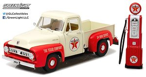 1953 Ford F-100 Texaco with Vintage Texaco Gas Pump (ミニカー)
