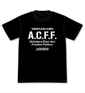 AKIBA`S TRIP -THE ANIMATION- 秋葉原中央通り自警団A.C.F.F. Tシャツ M (キャラクターグッズ)