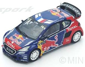 Peugeot 208 WRX No.9 Winner World RX of Latvia 2016 Sebastian Loeb (ミニカー)