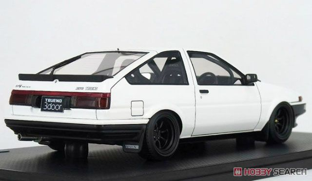 Toyota Sprinter Trueno(AE86) 3Dr GTV White (ミニカー)