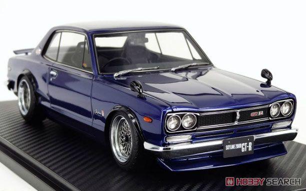 Nissan Skyline 2000 GT-R (KPGC10) Blue (ミニカー)