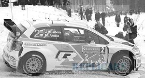 VW Polo R 2014年Rally Sweden #2 J-M.Latvala/M.Anttila (ミニカー)