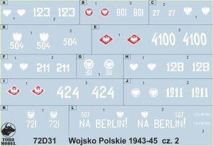 ポーランド陸軍デカール 1943-45年 Vol.2 (デカール) (プラモデル)