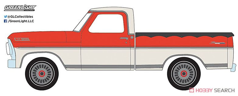 1967 Ford F-100 with Bed Cover (Hobby Exclusive) (ミニカー)