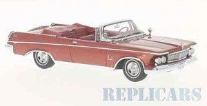 インペリアル クラウン コンバーチブル 1963 メタリックレッド (ミニカー)