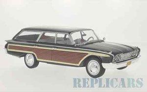 フォード カントリー スクワイア 1960 ブラック/ウッド (ミニカー)