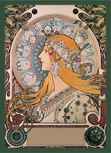 Broccoli Hybrid Sleeve Alfons Mucha [Twelve Signs of The Zodiac] (Card Sleeve)