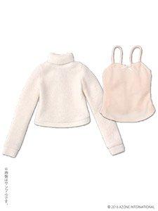 AZO2 柔らかタートルネックセーターセット (クリーム×ピンク) (ドール)