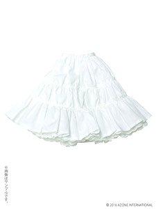 50 ナチュラルガーリー♪ティアードスカート (オフホワイト) (ドール)