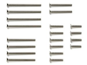 GP510 Stainless Steel Countersunk Screw Set (10/12/20/25/30mm) (Mini 4WD)