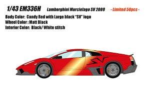 EM336 Lamborghini Murcielago LP670-4 SV Duck tail ver. キャンディレッド (ミニカー)