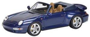 ポルシェ 911 (993) ターボ カブリオレ ブルー (ミニカー)