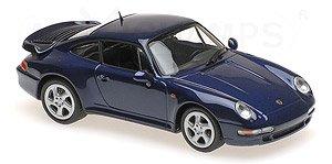 ポルシェ 911 ターボ S (993) 1997 ブルーメタリック (ミニカー)
