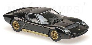ランボルギーニ ミウラ (1966) ブラック (ミニカー)