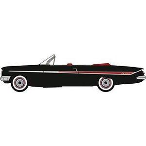 Chevrolet Impala 1961 Convertible Tuxedo Black//red Oxford Diecast