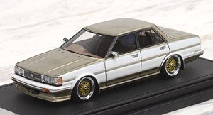 Toyota Cresta Super Lucent (GX71) White/Gold (ミニカー)