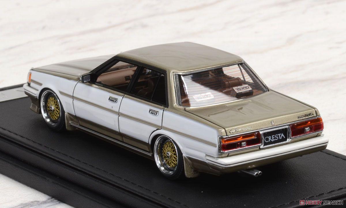 Toyota Cresta Super Lucent (GX71) White/Gold (ミニカー)