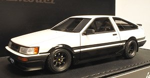 Toyota Corolla Levin (AE86) 3Door GT Apex White/Black (ミニカー)