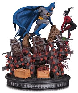 『DCコミックス』 【DC スタチュー】 バットマン VS ハーレイ・クイン (完成品)