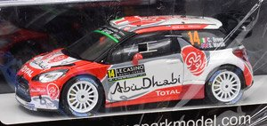 Citroen DS3 WRC No.14 5th WRC Monte Carlo 2017 Citroen Total Abu Dhabi WRT (ミニカー)