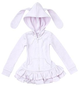 AZO2 Usamimi Parka One Piece Dress (Lavender) (Fashion Doll)