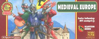 MEDIEVAL EUROPE Swiss infantry XV centyri1//72 Soldiers Figures Kit Ultima Ratio