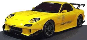 MAZDA RX-7 (FD3S) RE Amemiya Yellow (ミニカー)