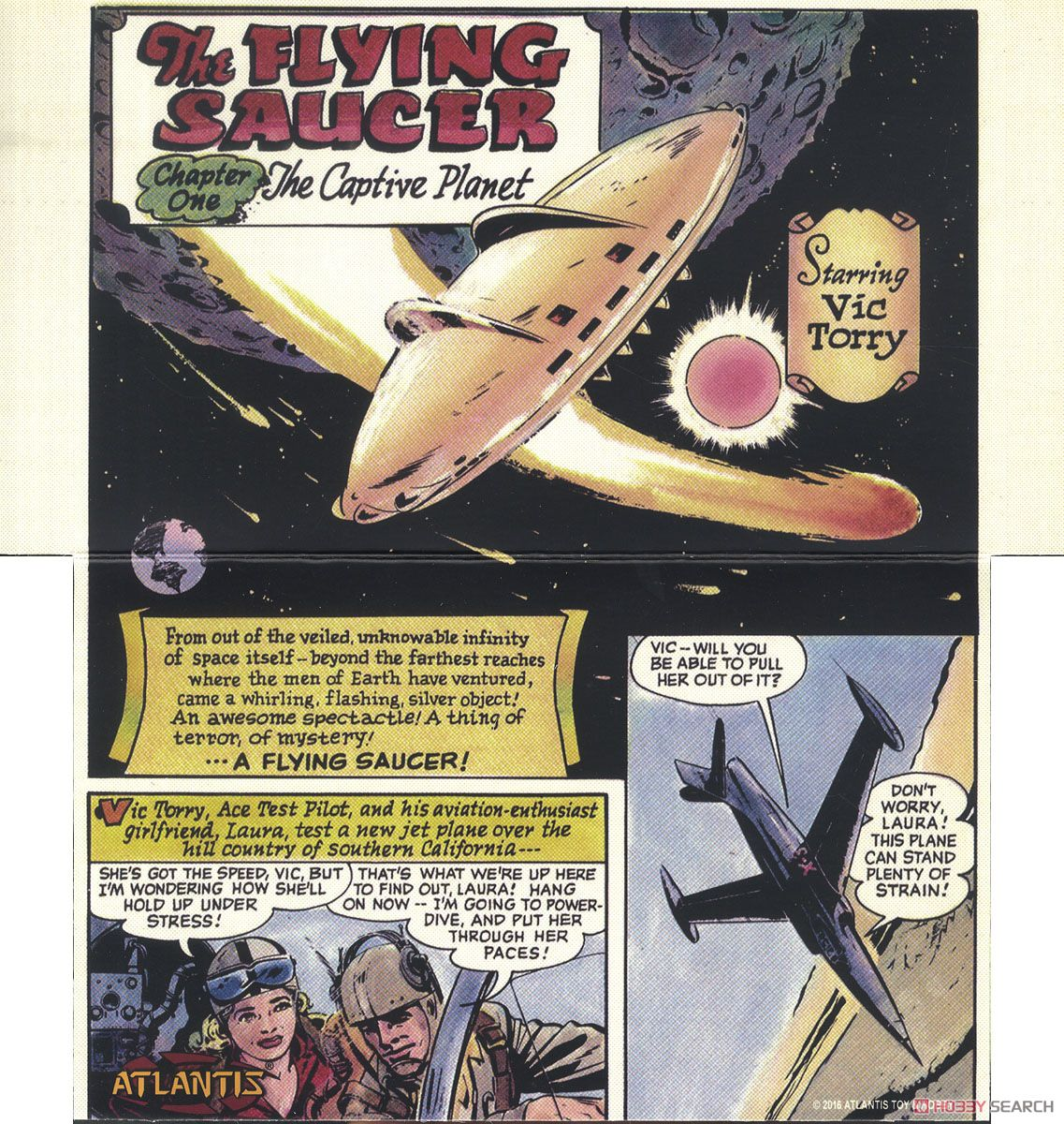 Vic Torry and His Flying Saucer [Plastic model) Contents2