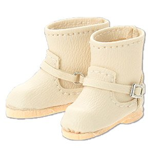 Double Buckle Boots (Beige) (Fashion Doll)