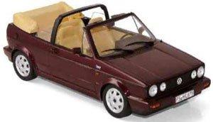VW ゴルフ カブリオレ クラシック ライン 1992 メタリックレッド (ミニカー)